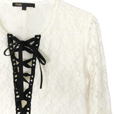 eyelet lace dress white